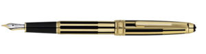 Montblanc Solitaire Gold and Black Meisterstuck Pen 35979 [0e80]