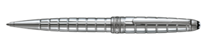 Montblanc Platinum - Plated Facet Meisterstuck Penna a sfera in argento 38248 [fbdf]